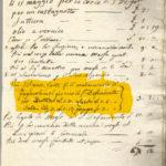 documento storico si riferisce alla contabilità inerenti Le spese sostenute nel 1830 dalla congregazione del suffragio e precisa. PIU' LE SPESE PER IL CONDIMENTO DEI FAGIOLI NEL GIORNO DI SAN DEFENDENTE - BUTIRRO LIRE che nel 19663.0 - LARDO LIRE 1,3 SALE LIBRE 3 SOLDI 0,12 - PEPPE LIRE 3.00
