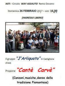 locandina cantè Carvè
